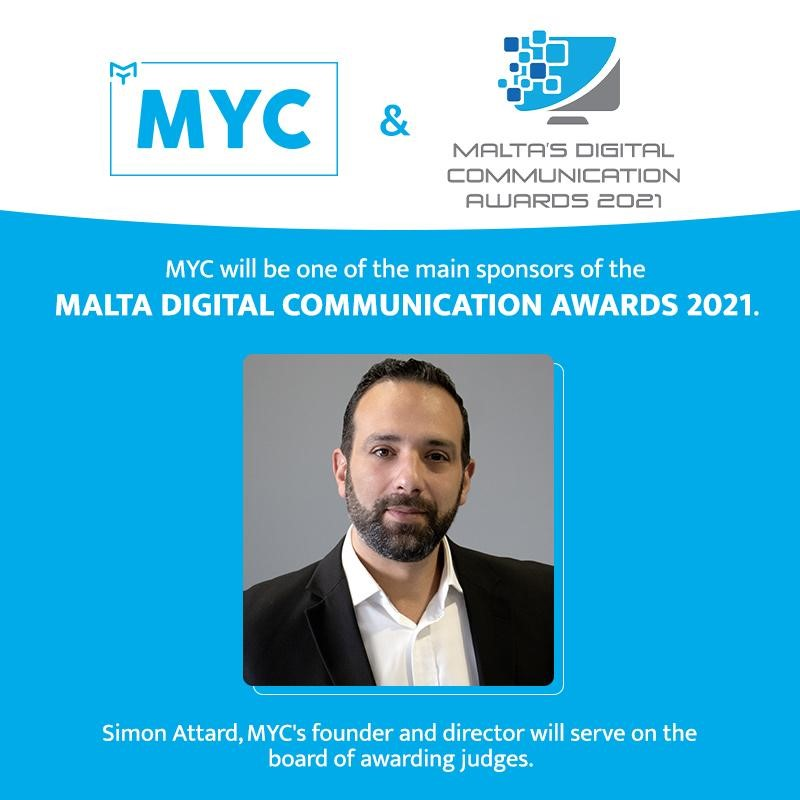 Simon Attard Portrait. Myc will be one of the main sponsors of the malta digital communication awards 2021